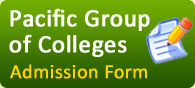 Admission Form for Pacific Group of Colleges